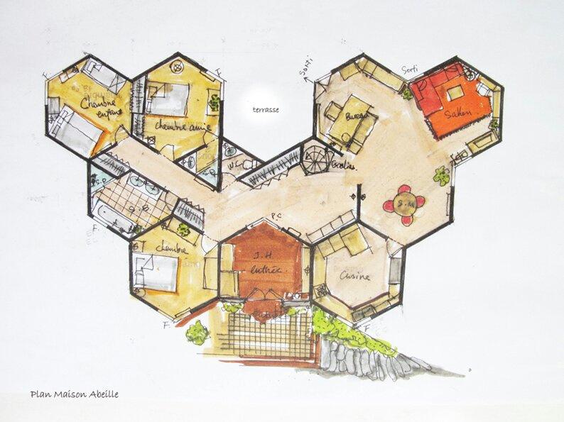 Plan de maison atypique uf73 jornalagora - Plan de maison original ...